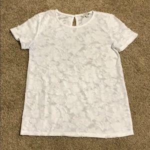 Lucky Brand white short sleeve shirt size XS